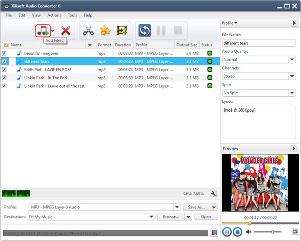 How to convert AIFF to MP3, convert WAV, ACC to MP3?