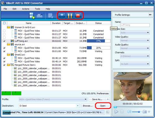 Xilisoft AVI to MOV Converter