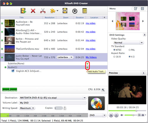 Xilisoft DVD Creator for Mac