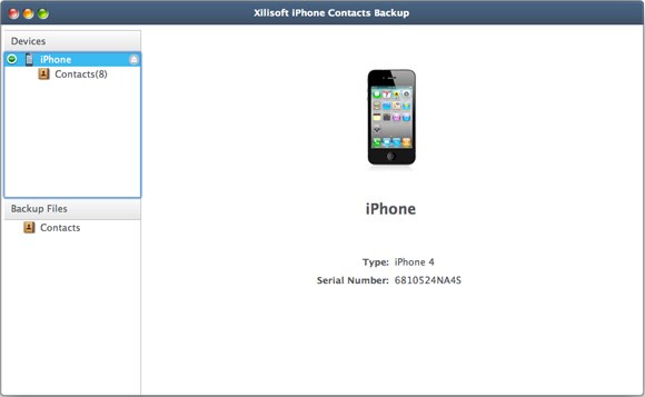 Xilisoft iPhone Contacts Backup for Mac