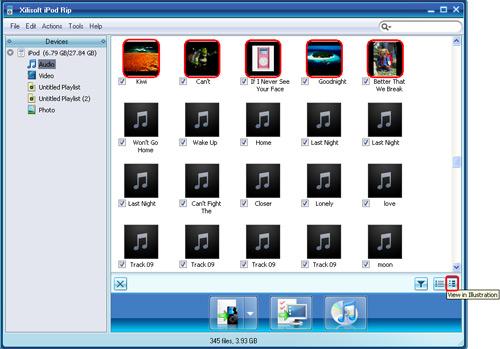 iPod Rip, ipod transfer