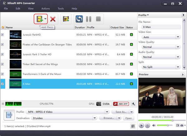 Xilisoft MP4 Converter