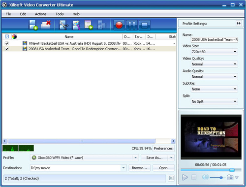 Convert FLV to Xbox, FLV to Xbox converter, video converter