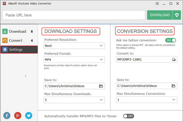 Convert FLV/MP4 videos to other video formats