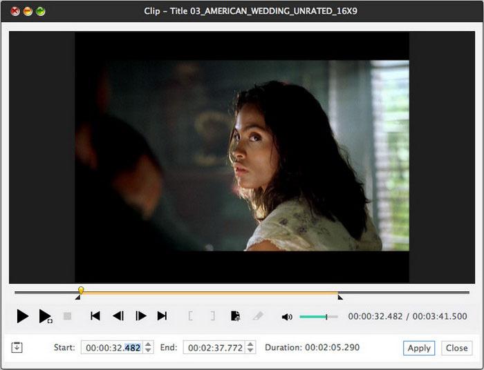 Xilisoft DVD Ripper for Mac - Screenshot