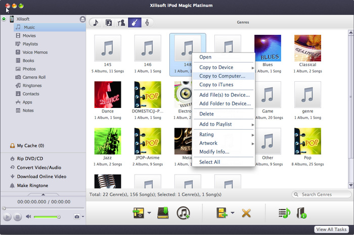 Xilisoft iPod Magic Platinum for Mac Screenshot